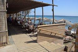 The Beach bar & the beach