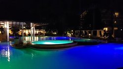 Main pool area by night