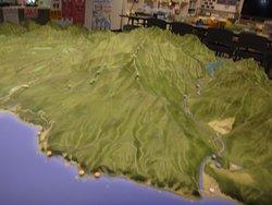展示してあるアポイ岳周辺のジオラマ