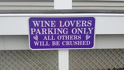 sign on their parking lot
