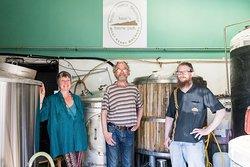 Adrienne Paul & Daniel in West Kerry Brewery