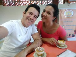 Eu e minha namorada reservamos uma tarde para degustar a irresistível coalhada, além do creminho