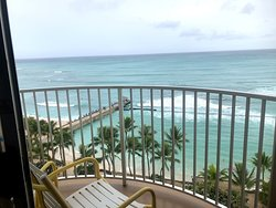 This is our lanai view from our Oceanfront room- 7th floor