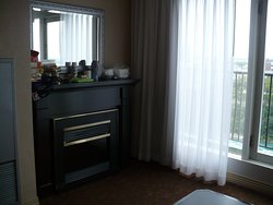 Room 2167 with fireplace