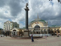 The Column With The Symbol Of Krasnoyarsk