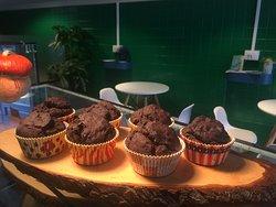 Muffin vegani al cioccolato fondente