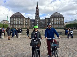 You come close to the center of power in Denmark. Here we stand in front of Christiansborg.