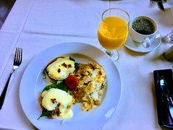 Breakfast buffet is the best meal
