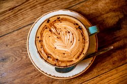 Our coffee is 100% Freshly ground with organic beans it's rich and full taste.