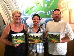 This artistic couple made some beautiful paintings and had so much fun!