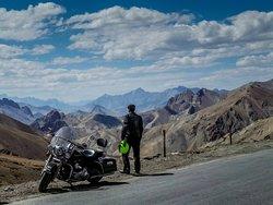 Big Bike riders at Ladakh with team Panet way round