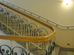The staircase is a good option for the lift