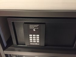 The safe is already locked while we first get in the room