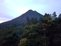 Great view of Arenal volcano and the sunset!