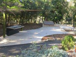 Barbecue/picnic area, Joseph Banks Native Plants reserve