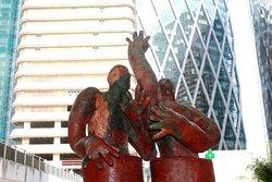 """Sculpture  """" Dans les Traces de nos Pères """" , Tout un défit …!!"""