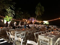 Jamaican beach party on Wednesday nights (weather permitted)