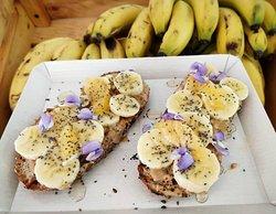 Banana toast with PB