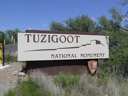 Entrance to Tuzigoot National Monument.