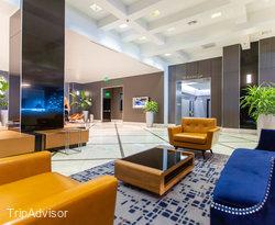 Lobby at the Hilton Miami Downtown