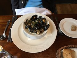 Local Mussels with white wine and cream