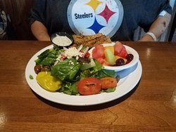Grilled Chicken Salad and Fruit