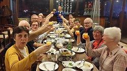 Group dinner at Saint John Restaurant and Sky Bar