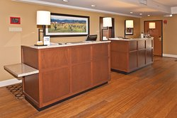 Our front desk, where our staff will greet you with a smile.