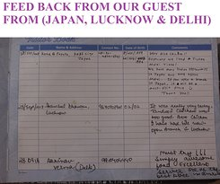 FEED BACK FROM OUR GUEST FROM (DELHI , LUCKNOW , & JAPAN)