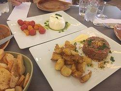 Steak Tartare e Burrata - Del Plin