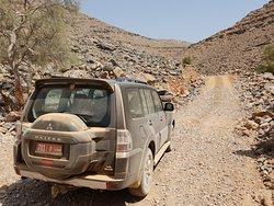 Unterwegs im Wadi Richtung Chasab