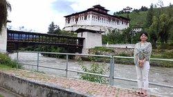 Beautiful Paro Dzong in Bhutan (fortress)