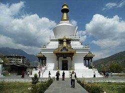 National Memorial Chorten in capital city of Thimphu-Bhutan.