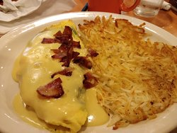 Omelette and has browns