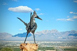 Recycled Roadrunner Sculpture