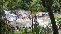 Dunn's River falls from a different angle