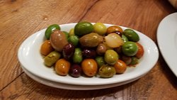 Delicious beautiful olives