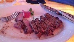 New York Strip Steak at Happy Hour