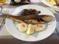 Grilled Sea Bass.