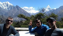 Mt. Everest, Lhotse, Tawache and Ama Dablam View from Hotel Everest View. Syanboche Solukhumbu N