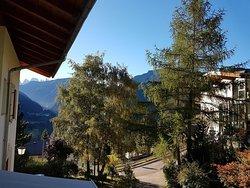 Blick vom Balkon (App. Natur) ins Grödnertal