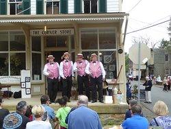 Barbershop Quartet at Corner Store