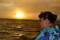 Our guide Tina on the ferry crossing to Savai'i xx