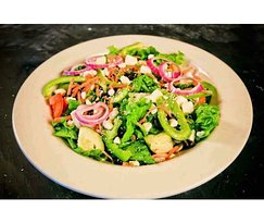 fresh hand chopped salad and made in house dressing