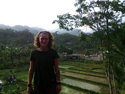 View of amazing panorama hills of Mount Sawal. Location so close from Ciamis downtown about 40 m