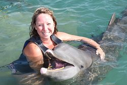 Hugs from dolphins are the best! He was smiling just as big as I was!