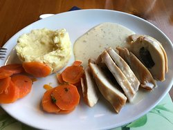 Dried out chicken and lumpy mash