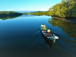 Cruising the Maroochy River in a Solar Powered Canoe.
