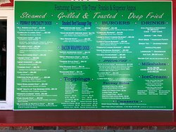 Fenway Grille (formerly Gary's Dogs) New menu 2018/2019