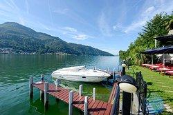 Boats Docking at Swiss Diamond Hotel Lugano